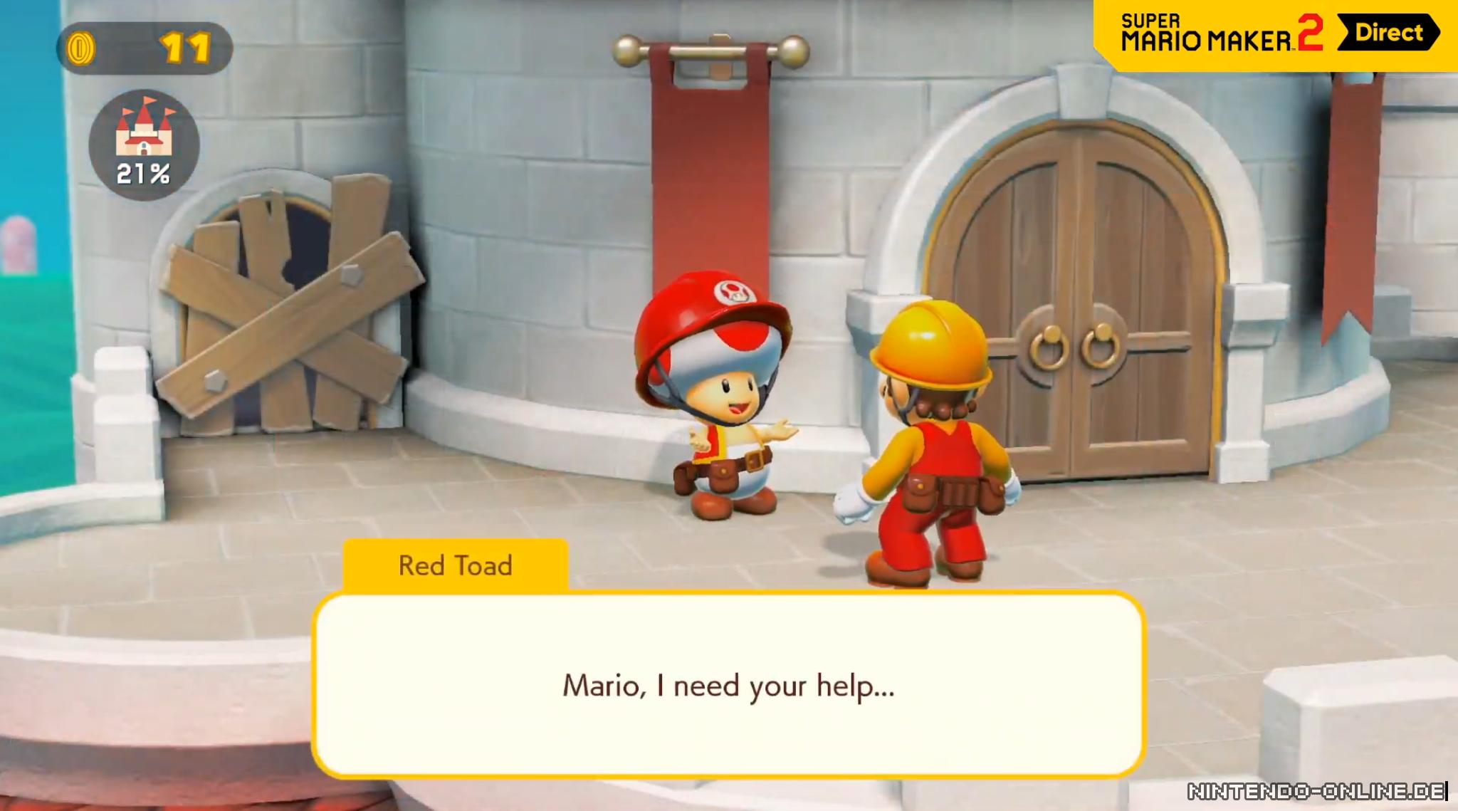 Super Mario Maker 2: Story-Modus lässt euch Peachs Schloss ...